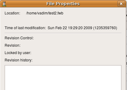свойства файла данных