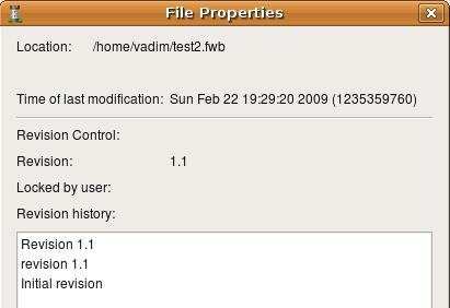 изменение в свойствах файла